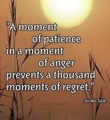 Patience and anger